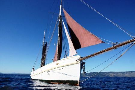 1929 Classic Haikutter Gaff Rigged Ketch, Venice Italy