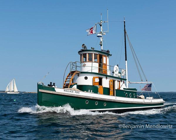 Custom Classic Wooden Tug Boat