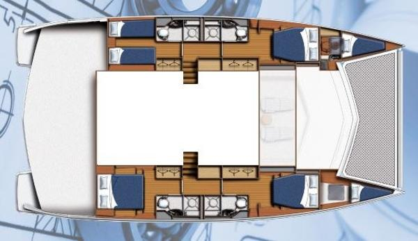 Moorings 5800 Lower Deck Layout Plan