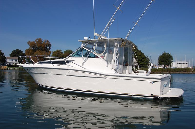 Wellcraft Coastal 330 1990 Wellcraft 33 Coastal, port beam