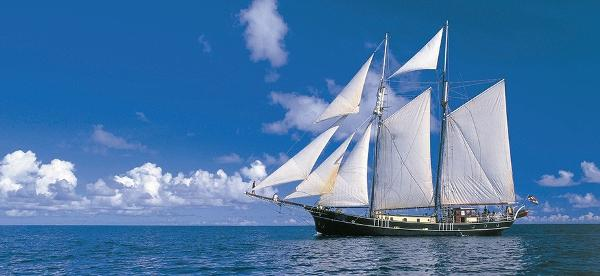 Steel Schooner Two Mast Classic