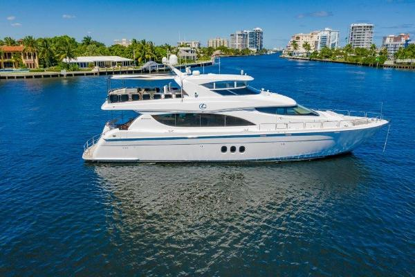 Hatteras Motoryacht Profile at Anchor