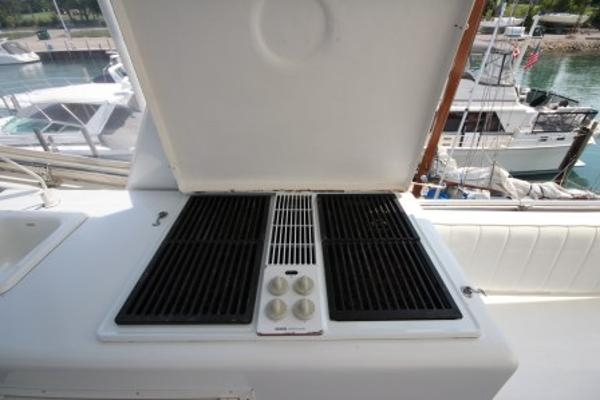 Flybridge grill