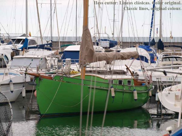 Classic Pilot Cutter moored