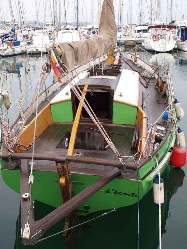 Classic Pilot Cutter moored 2