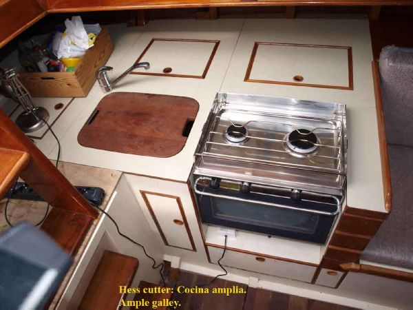 Classic Pilot Cutter galley