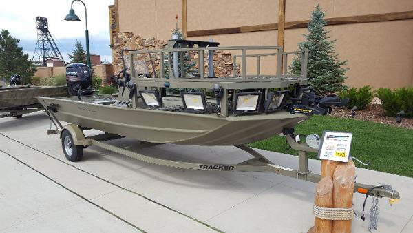 Tracker Grizzly 1860 MVX Sportsman This is the boat we have in stock!