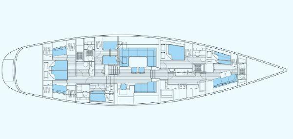 Nautor Swan 75 S Interior Plan