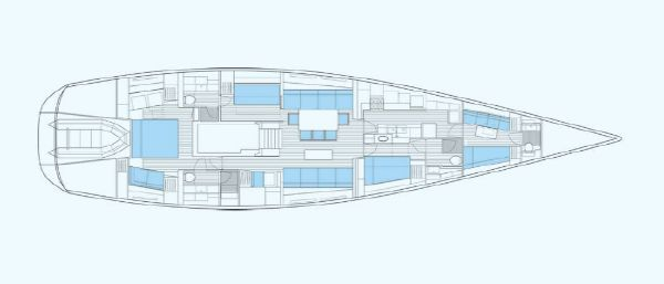 Nautor Swan 80 Interior Plan