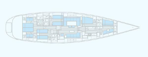 Nautor Swan 82 Interior Plan
