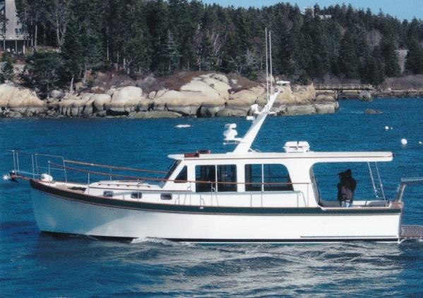 Wesmac Hardtop Custom-built Lobster Yacht Underway