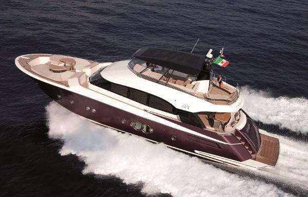 Monte Carlo Yachts 76 MCY 76 at sea (Brochure photograph)