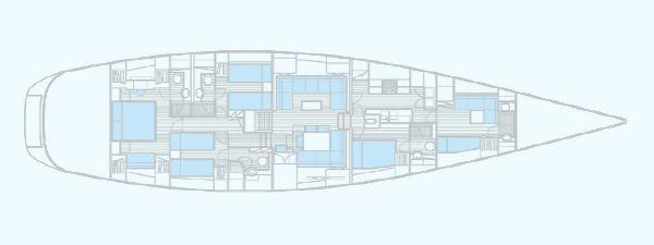 Nautor Swan 90 S Interior Plan
