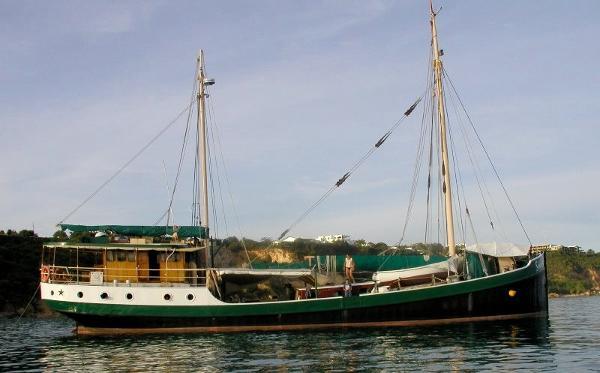 Gaff Rigged Motor Sailor 81ft Dutch built Live Abroad Cruiser