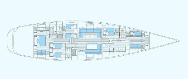 Nautor Swan 100 S Interior Plan