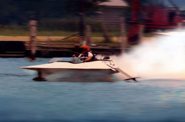 We hold Hydrofoil speed record 130+MPH since 1976 shown above