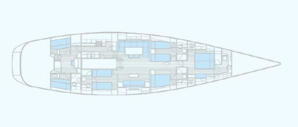 Nautor Swan 90 FD Interior Plan