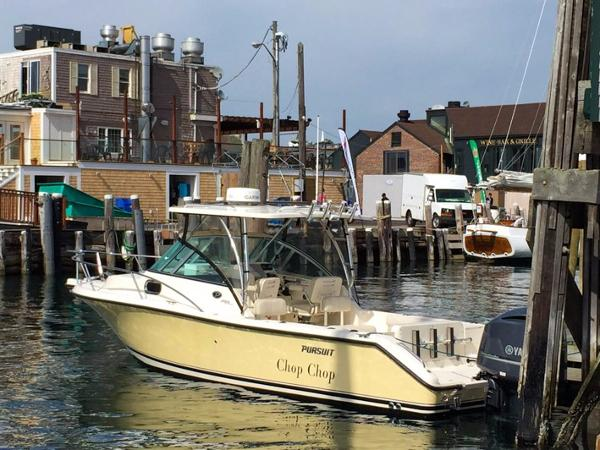 Pursuit 255 Offshore Port side profile
