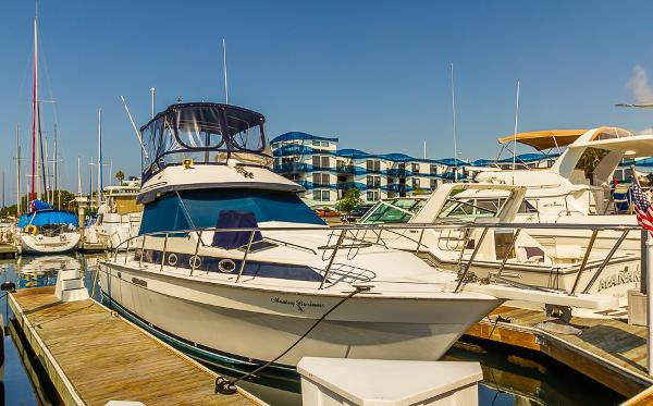Mediterranean 38 Convertible At the Dock