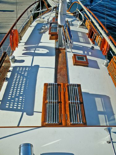 Deck view from bridge