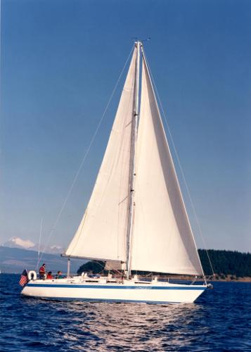 Wauquiez Centurion 42 Under Sail in 1990