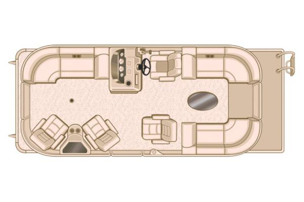 Sylvan Mirage Cruise 8522 LZ Port LE Manufacturer Provided Image