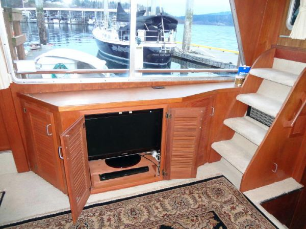 Entertainment Center; Stairs to Boat Deck