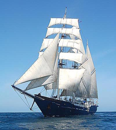 Custom Three-Masted Square-Rigged Barquentine Tall Ship Photo 1