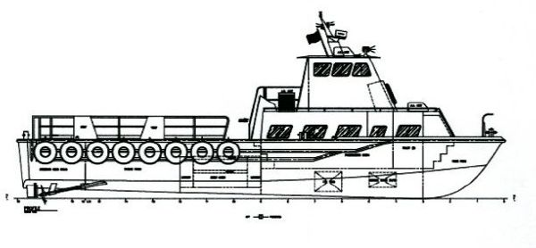 59' Aluminum Search & Rescue Boat /Seating for 30 passengers
