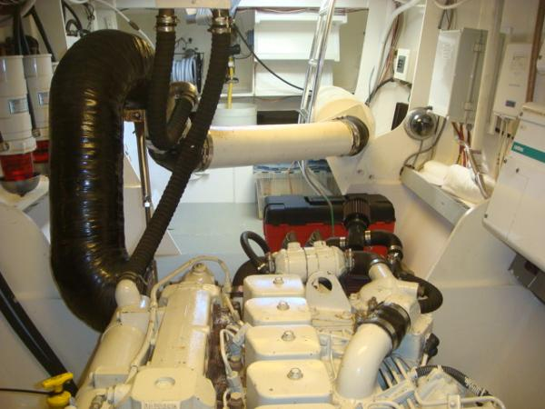 54' Crosswater port engine room aft