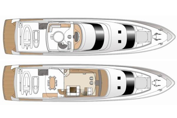 General Layout Flybridge & Boat Deck
