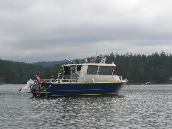 J & H Boats Custom Aluminum Starboard side
