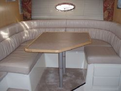 Galley port side seating