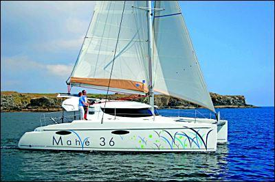 Fountaine Pajot Mahe 36 Evolution Side Shot