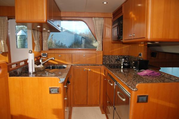 30. Galley convenient to saloon and flybridge