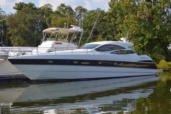 Pershing 50 Profile (Port side)