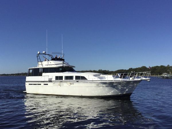 Bertram 58 Flybridge Motor Yacht Profile Starboard