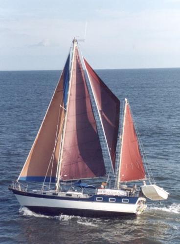 Trintella Victory IV Under sail