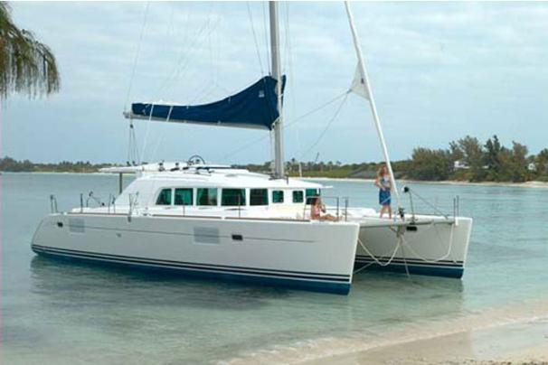 Lagoon Cat 440- Moored