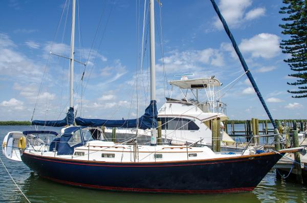 "Pearson 365 Ketch ""Afterglow"" in Home Port"