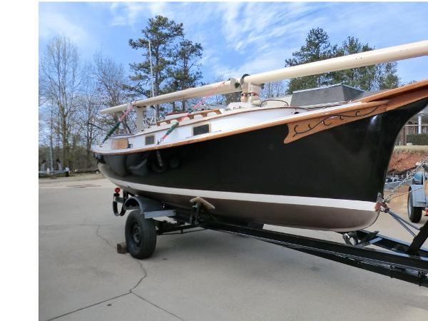 Herreshoff Eagle Starboard View on Trailer