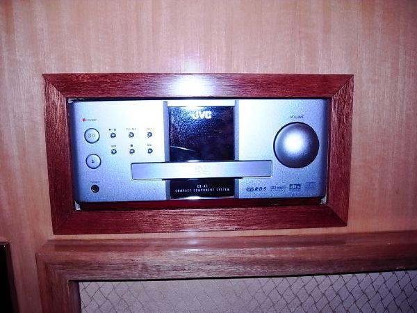 Forward starboardside twin berth cabin DVD player