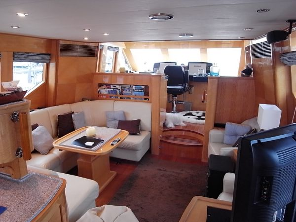 Saloon viewed from the galley