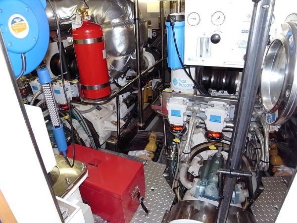 Engine room from bulkhead door
