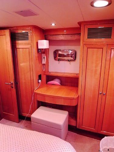 Owners suite writing desk/ hanging lockers