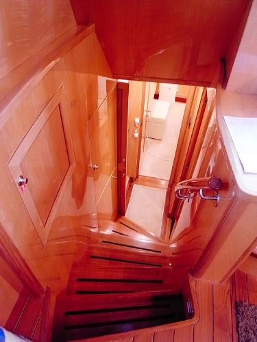Companionway to aft cabin