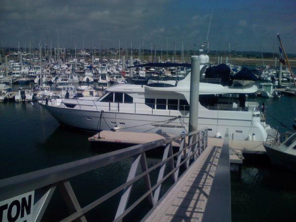 Exterior portside on berth