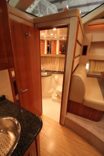 Guest head w/access to stateroom