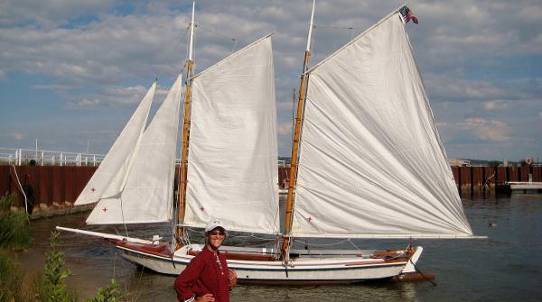 Texas Coast Scow Schooner Scale Replica