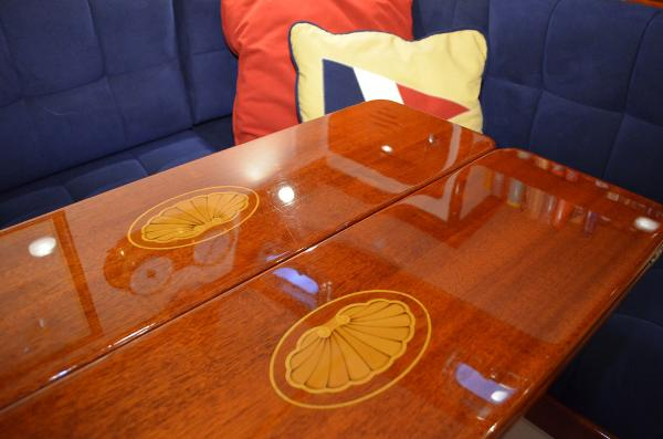 Morris Yachts 42 table detail